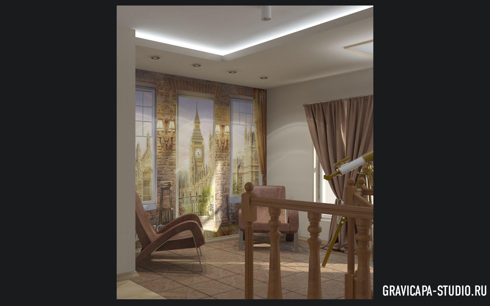 фото дизайн второго этажа дома #11